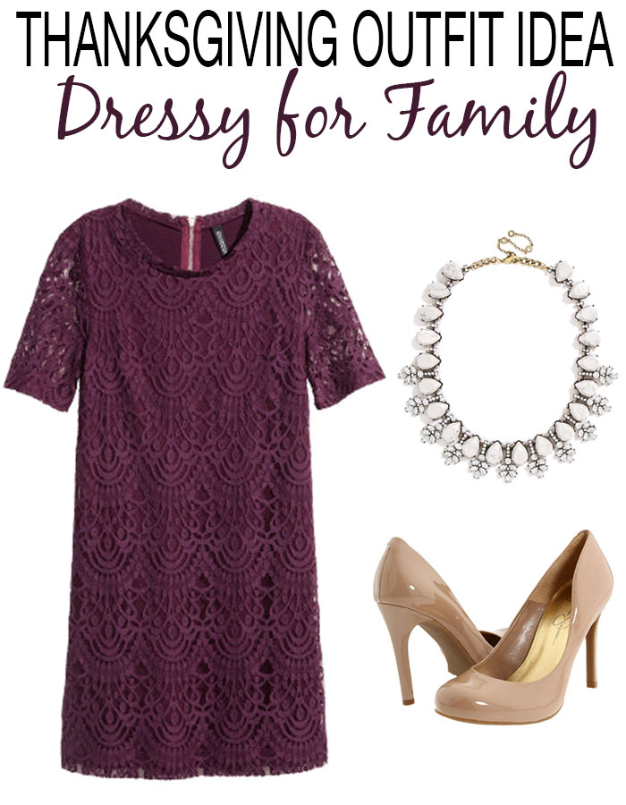 Thanksgiving Outfit Idea, can you believe this dress is less than $30?! Love a good bargain! | dcgirlinpearls.com
