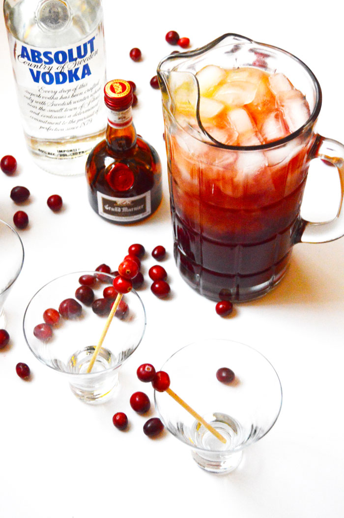 Big Batch Christmas Cocktail with Vodka + Grand Marnier | dcgirlinpearls.com