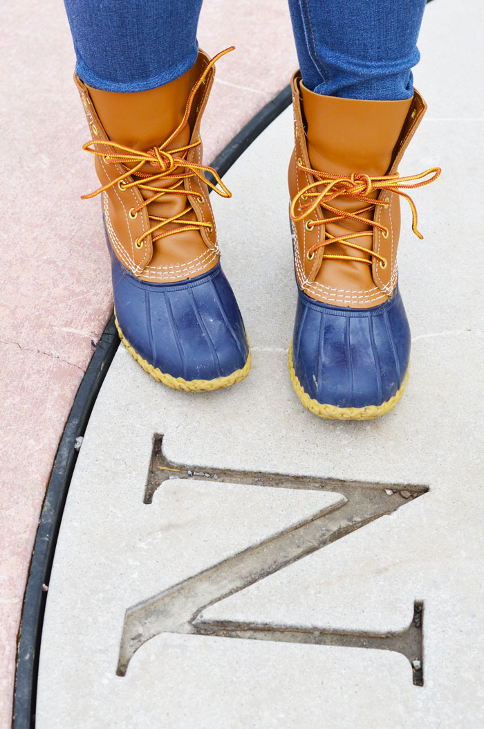 How to Style L.L. Bean Boots | dcgirlinpearls.com