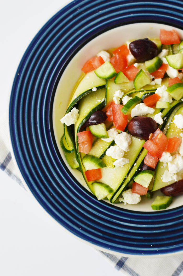 Greek Marinated Zucchini Salad | dcgirlinpearls.com