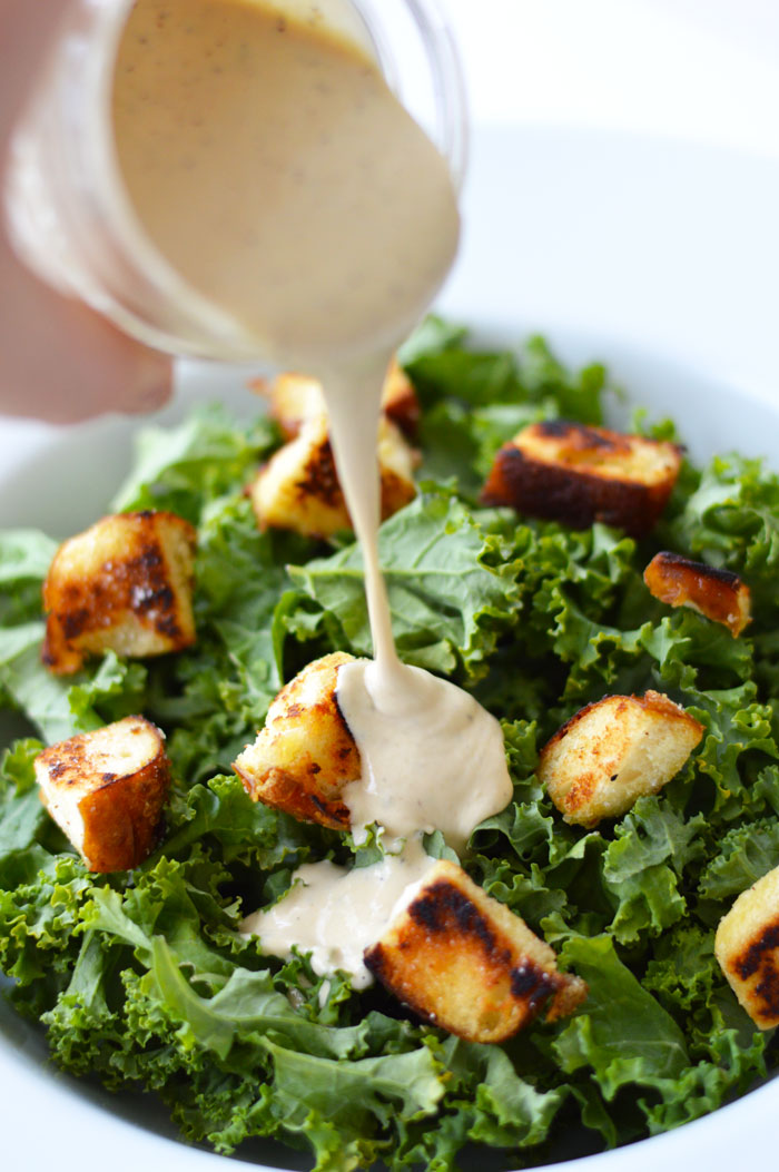 kale caesar salad with non dairy tahini caesar dressing and pretzel croutons dc girl in pearls. Black Bedroom Furniture Sets. Home Design Ideas