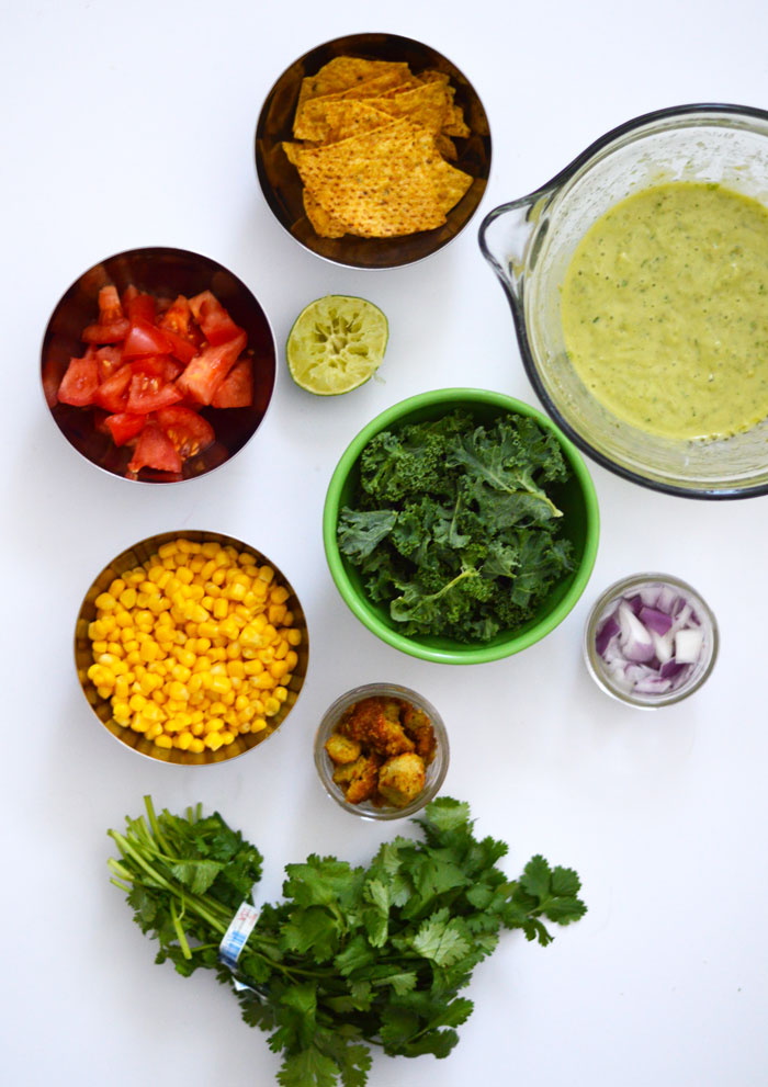 Kale Taco Salad with Seasoned Falafel Crumbles | dcgirlinpearls.com