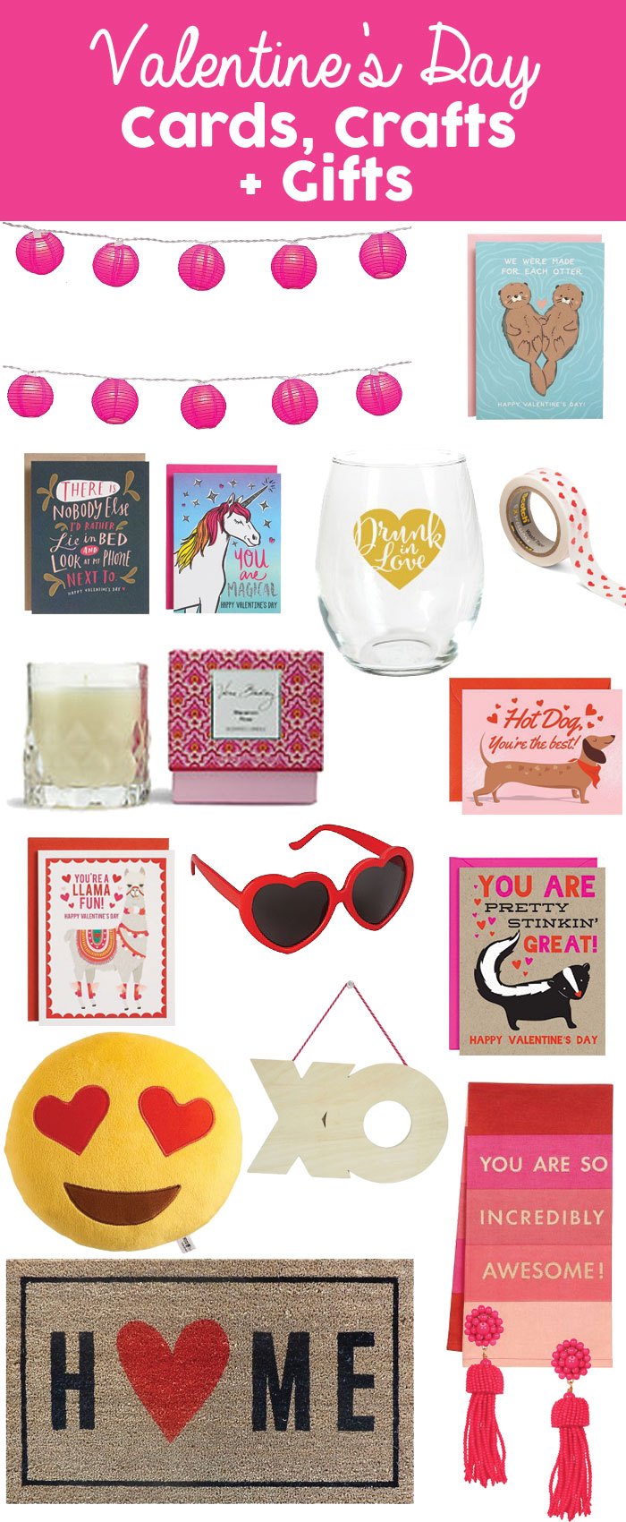 Valentine's Day Cards, Crafts + Gifts | dcgirlinpearls.com