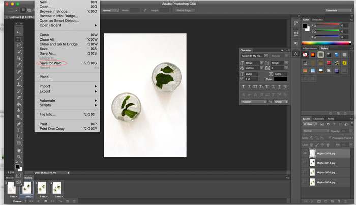 How to Make a GIF with Photoshop - easy, step-by-step tutorial | dcgirlinpearls.com