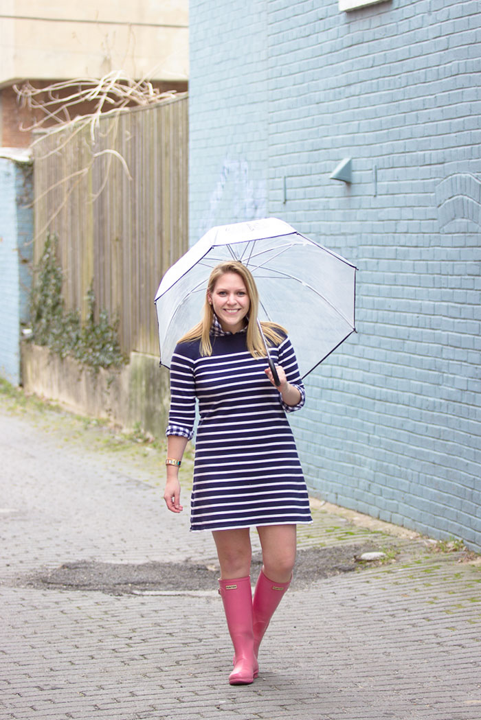 Navy Gingham + L.L. Bean Stripe Dress via @ DC Girl in Pearls | dcgirlinpearls.com