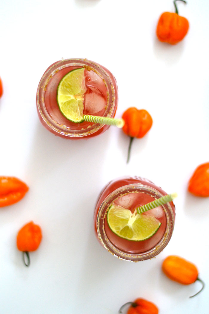 Spicy Grapefruit Margarita -- made with 4 ingredients and SO tasty! | dcgirlinpearls.com
