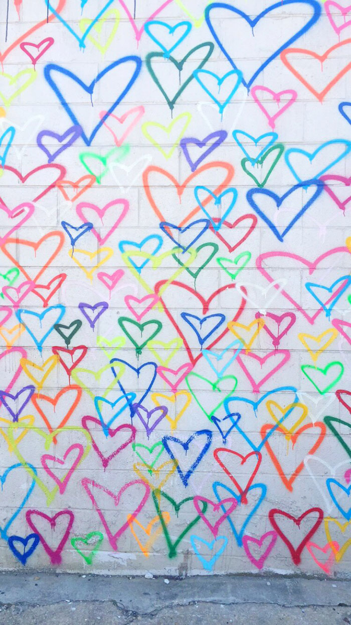 Hearts Mural in Union Market via @ DC Girl in Pearls | dcgirlinpearls.com