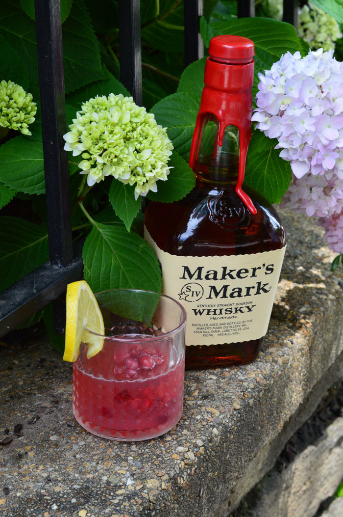 Belmont Jewel Cocktail with Maker's Mark | dcgirlinpearls.com