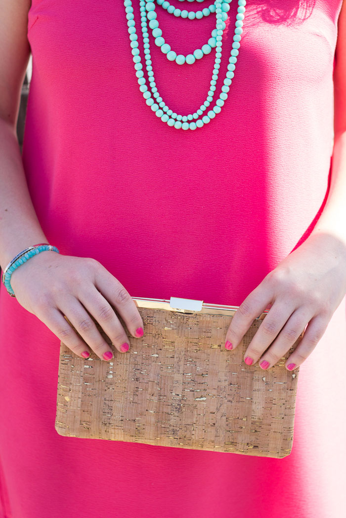 Cork Clutch | DC Girl in Pearls