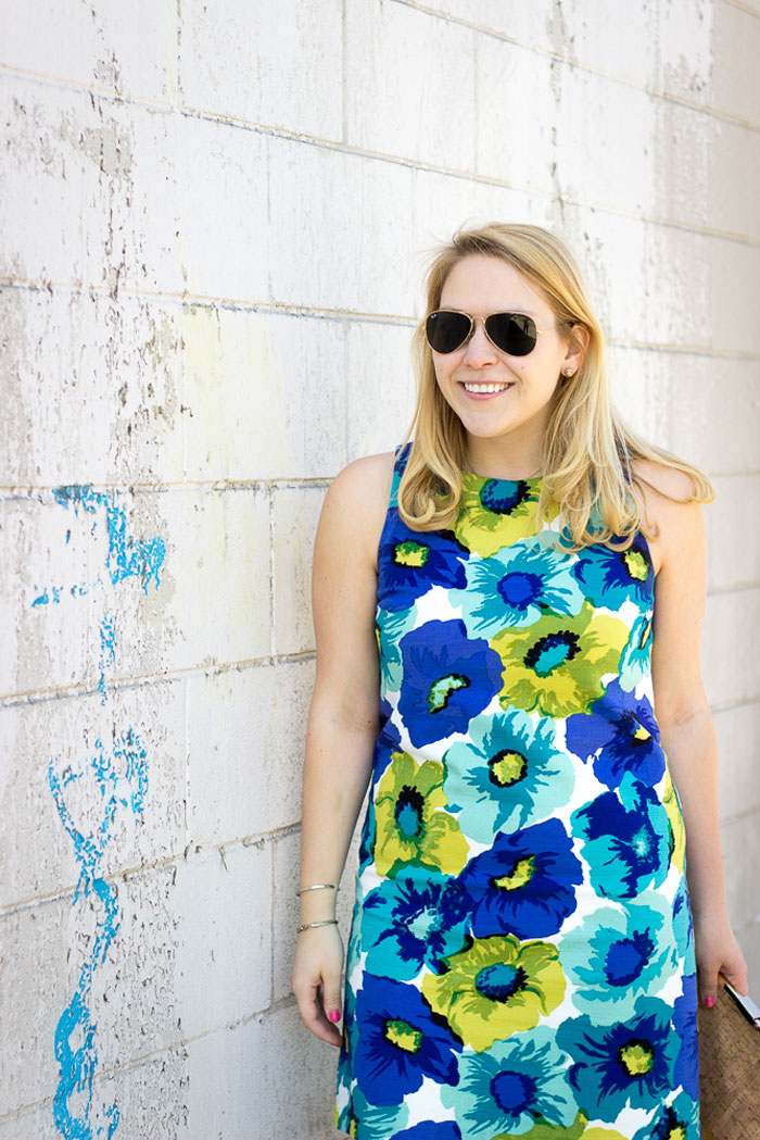 Floral Shift 2 Ways: How to style for the day via @ DC Girl in Pearls | dcgirlinpearls.com