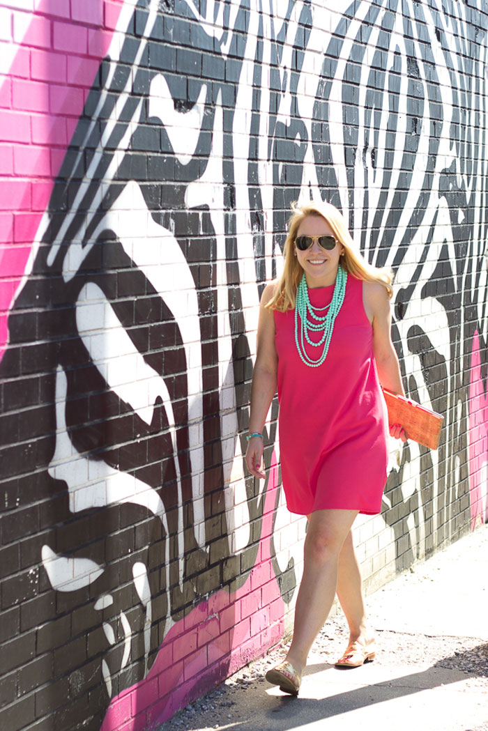 Summer Shift Dress | DC Girl in Pearls