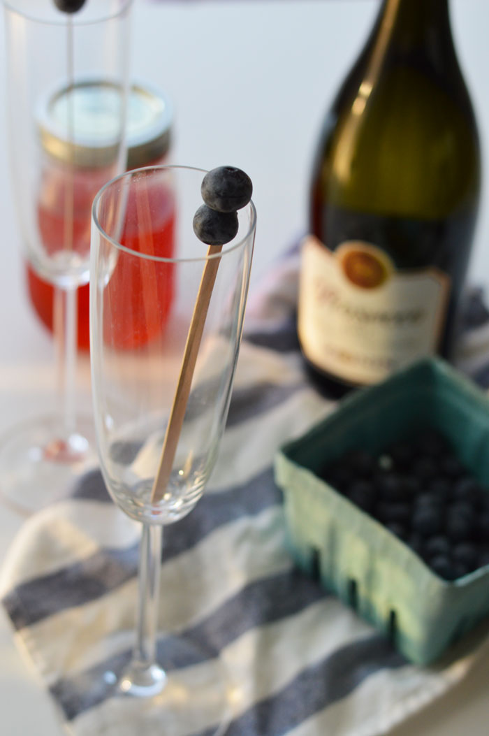 Strawberry Mimosa with Homemade Strawberry Simple Syrup via @ DC Girl in Pearls | dcgirlinpearls.com