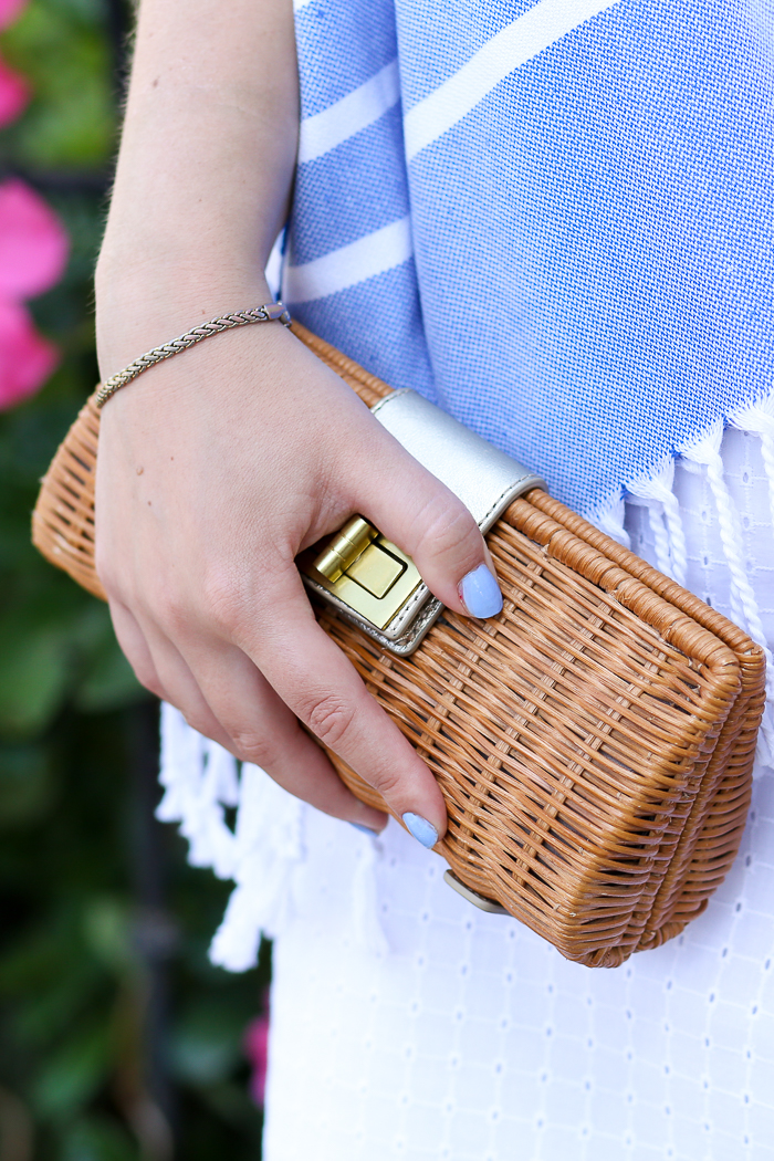JCrew Factory Rattan Clutch