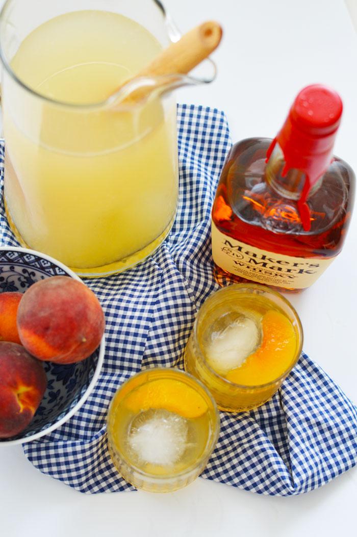 Peach-Bourbon-Lemonade