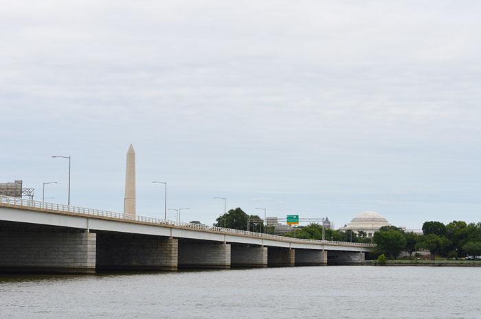 Washington and Jefferson Memorials from Potomac
