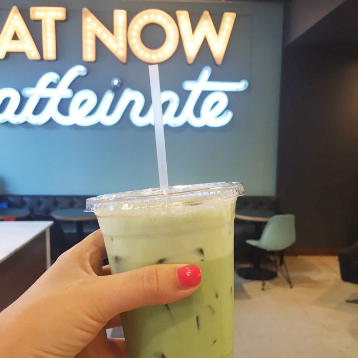 Iced Matcha at Goddess and the Baker in Chicago