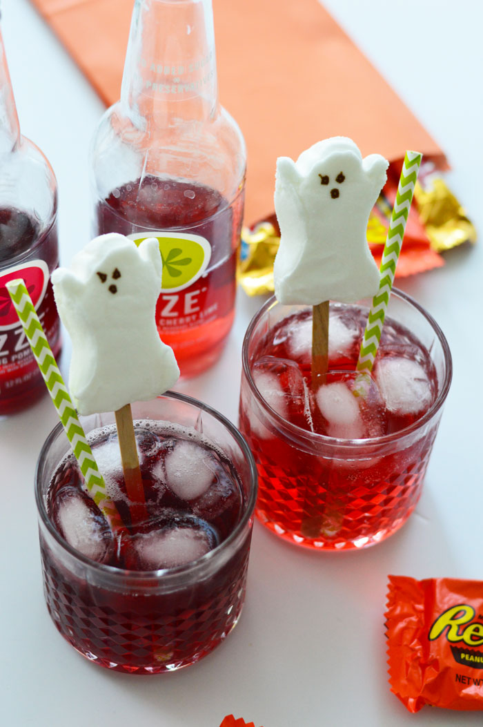 Ghost Peeps Drink Stirrer | dcgirlinpearls.com