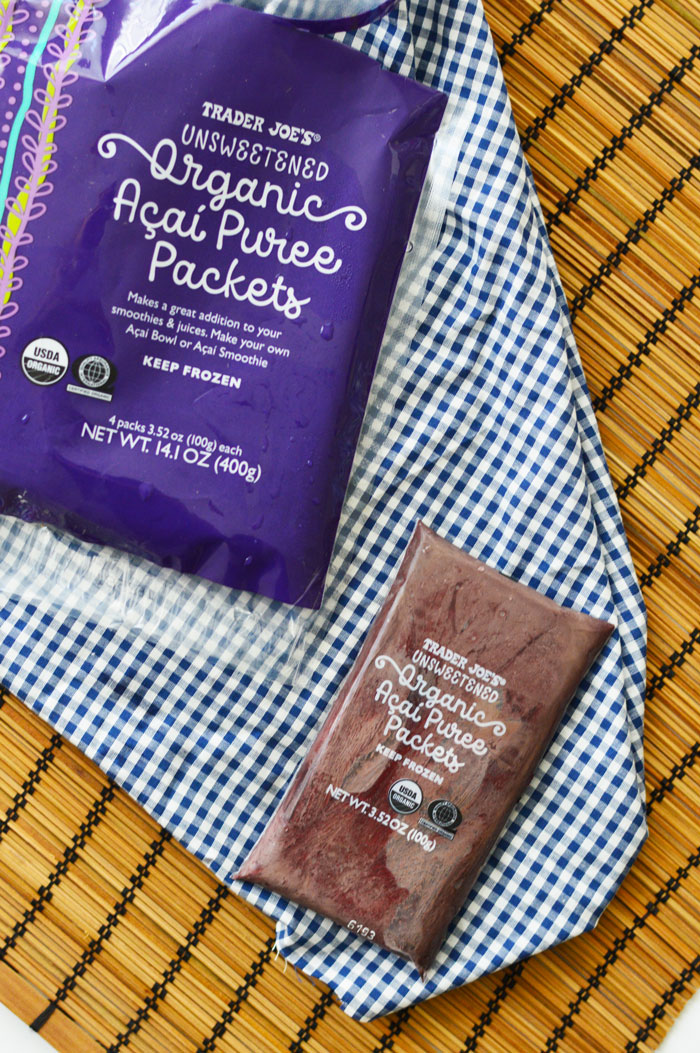 Acai Bowl with Trader Joe's Frozen Acai Packet | dcgirlinpearls
