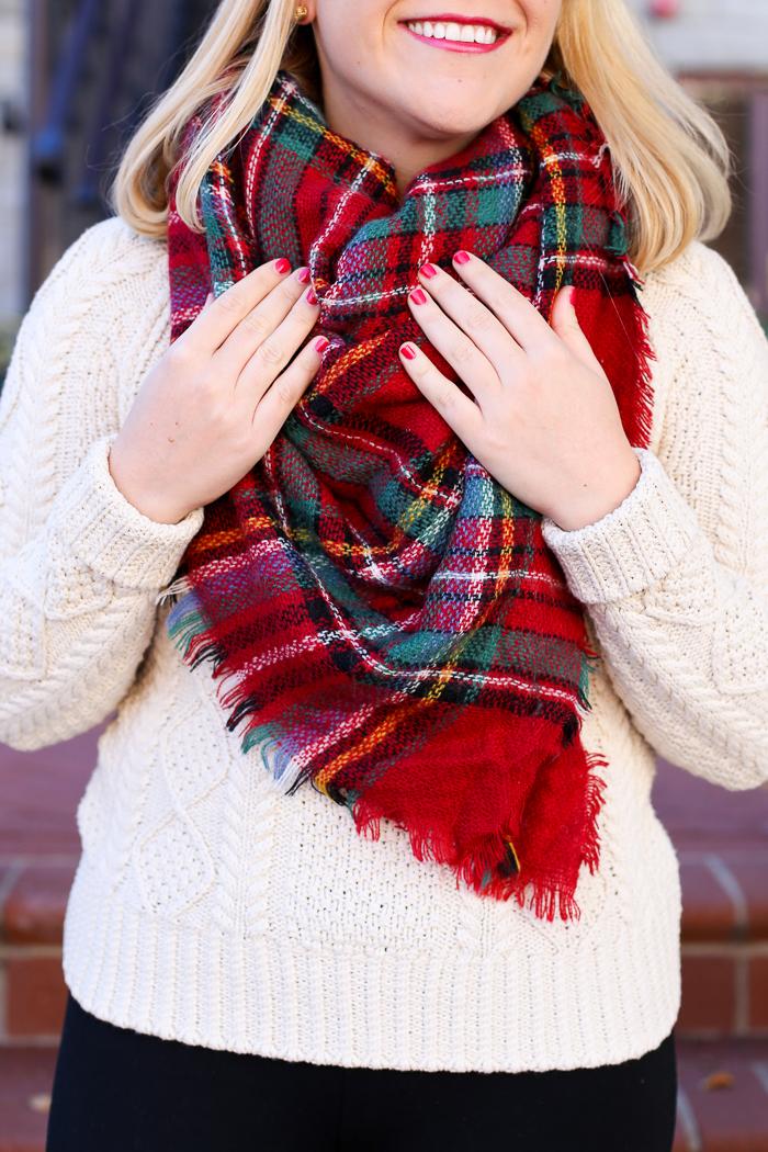 Blanket Scarf | dcgirlinpearls.com