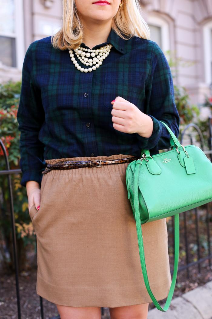 Camel Skirt | dcgirlinpearls.com