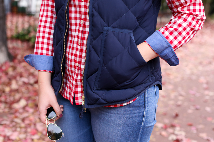 Gingham for Fall | dcgirlinpearls.com