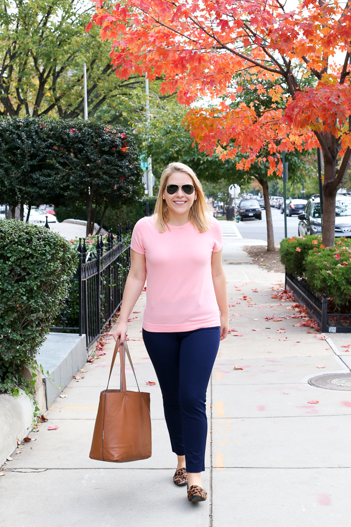 Pink and Navy for Fall | dcgirlinpearls.com