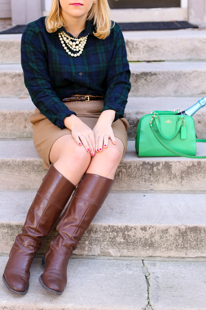 Black Watch Plaid + Riding Boots | dcgirlinpearls.com