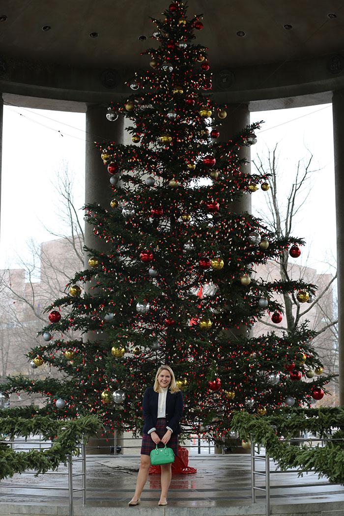 Christmas Plaid Skirt | dcgirlinpearls.com