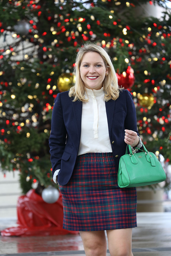 Holiday Plaid Skirt | dcgirlinpearls.com