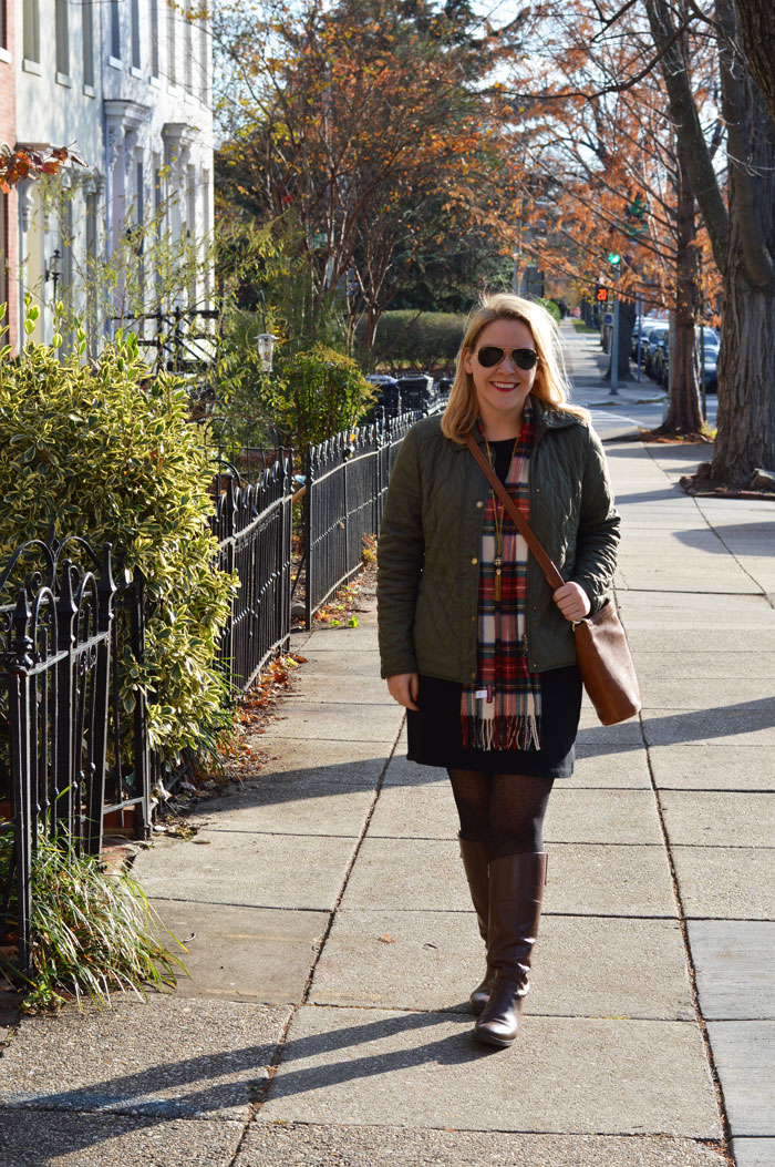 LL Bean Quilted Riding Jacket | dcgirlinpearls.com