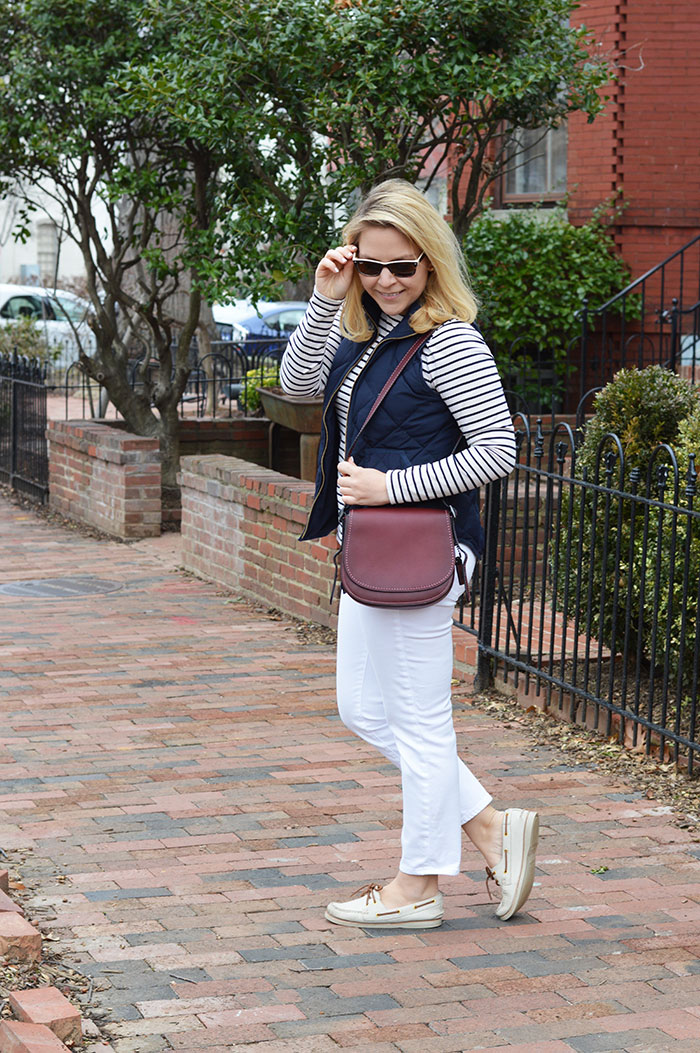 How To Style White Jeans in Winter | dcgirlinpearls.com