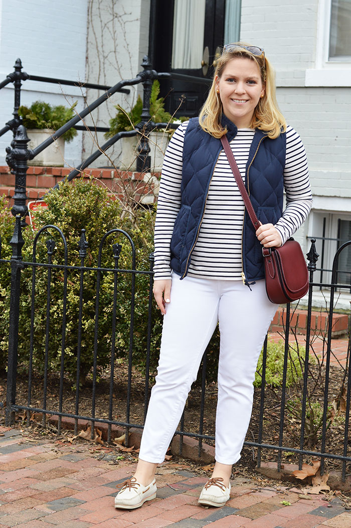 Winter White Jeans | dcgirlinpearls.com
