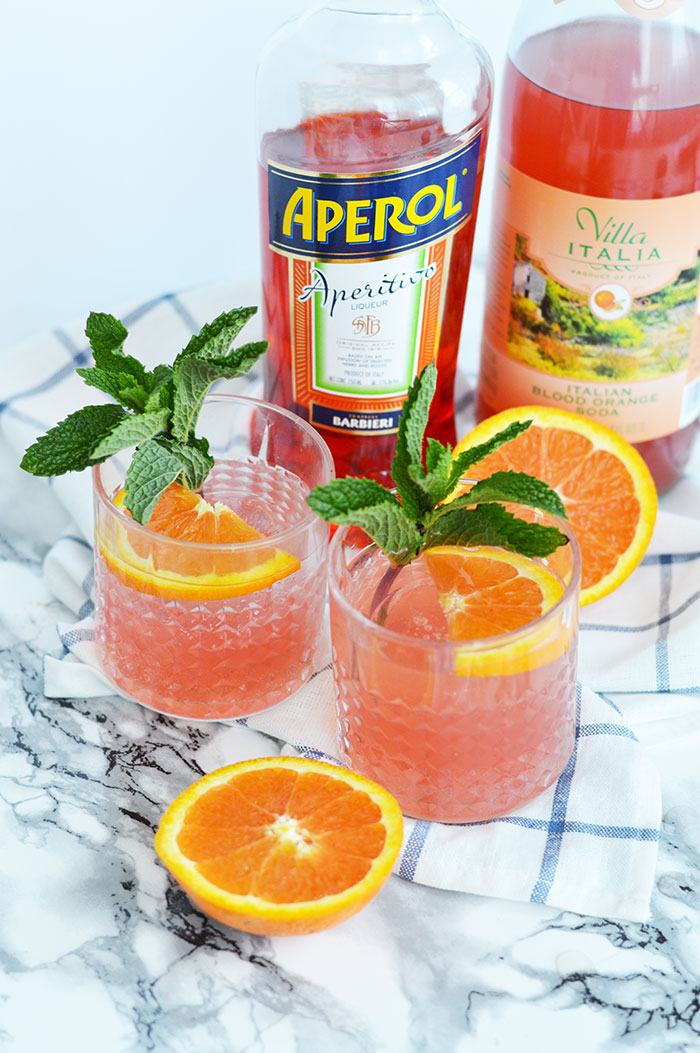 Blood Orange Aperol Spritz | @dcgirlinpearls