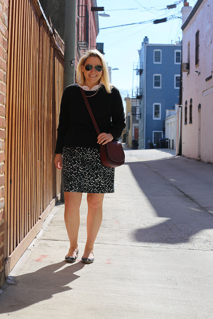 How to Style Leopard for Work | @dcgirlinpearls