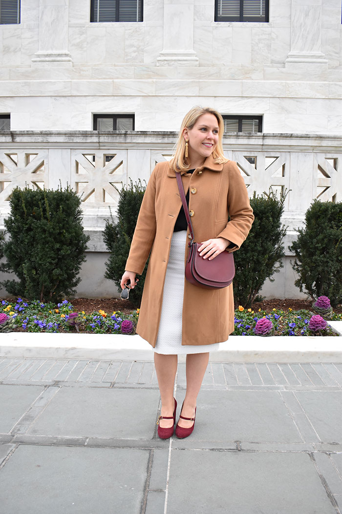 How To Style Winter White for Work | dcgirlinpearls.com