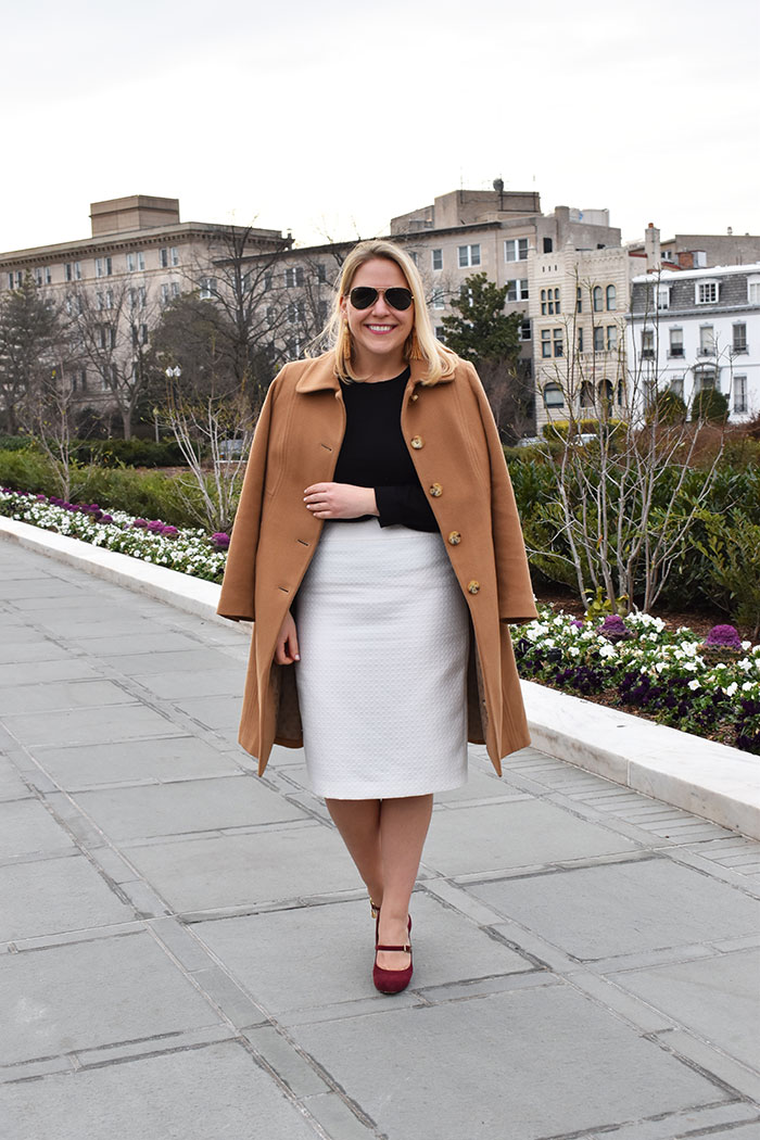 How to Wear Winter White to Work | dcgirlinpearls.com