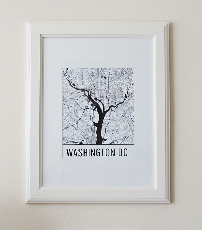 Modern Map Art DC Print | @dcgirlinpearls