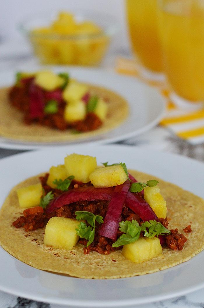Quinoa Chorizo Tacos | dcgirlinpearls.com