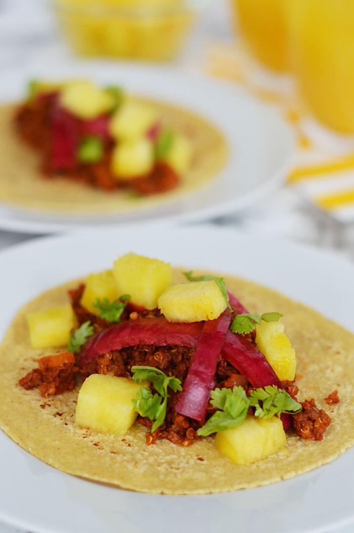 Soy Chorizo Quinoa Tacos | dcgirlinpearls.com