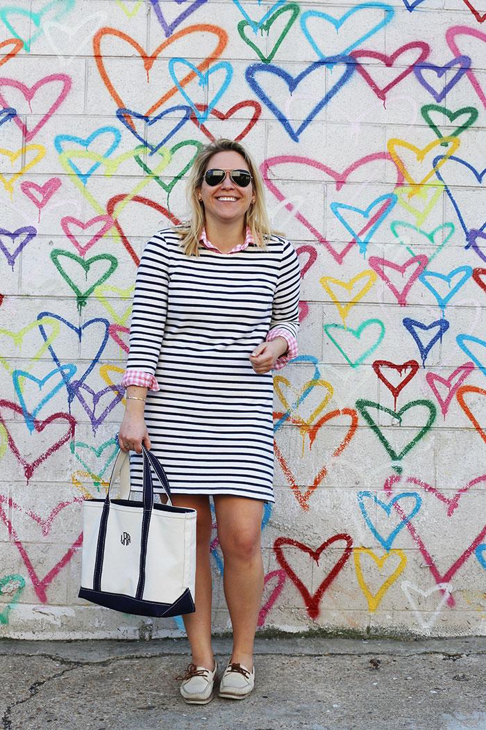 Stripe Dress | @dcgirlinpearls