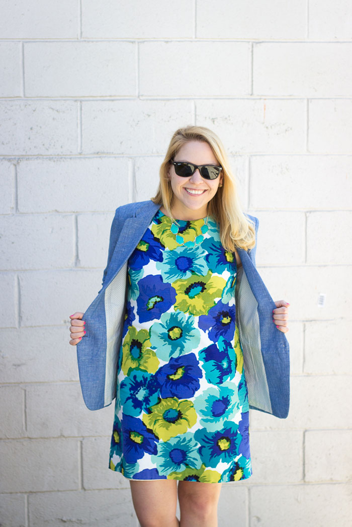 Chambray Blazer | @dcgirlinpearls