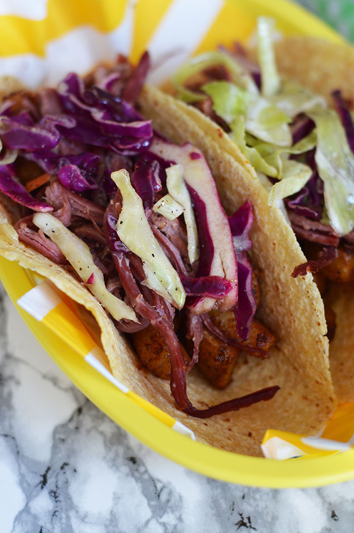 Corned Beef and Cabbage Slaw Tacos | @dcgirlinpearls