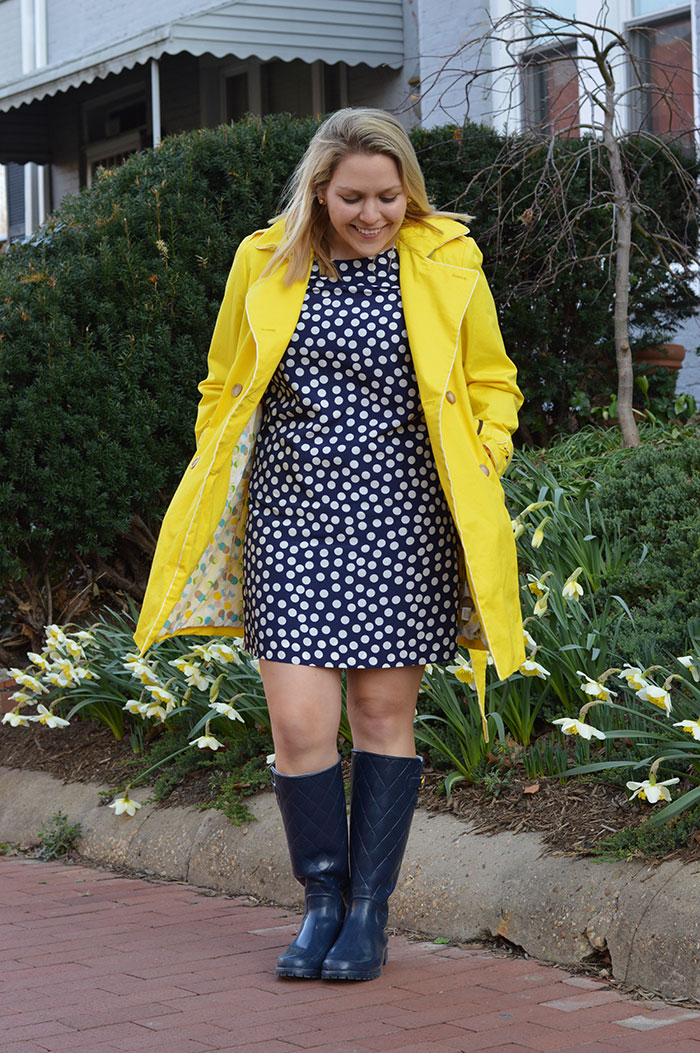 Yellow Raincoat | @dcgirlinpearls