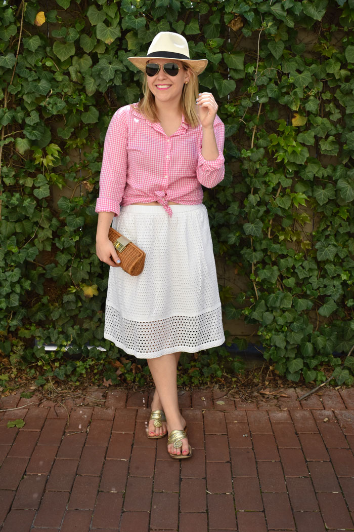DC Girl in Pearls Pink Gingham | @dcgirlinpearls