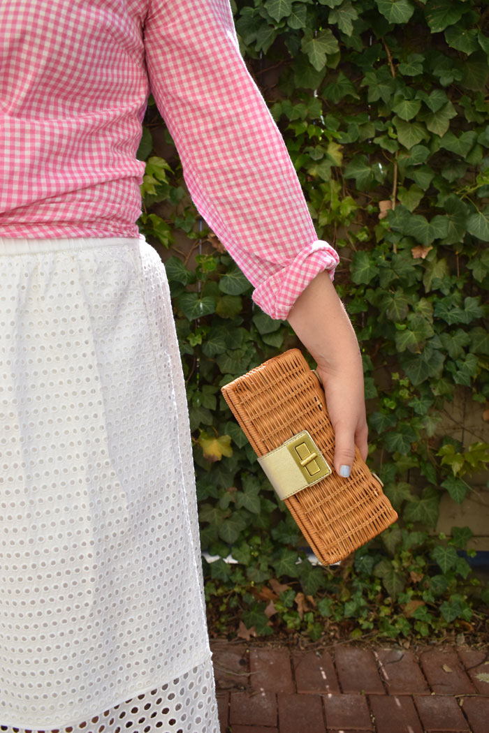 Rattan Clutch | @dcgirlinpearls