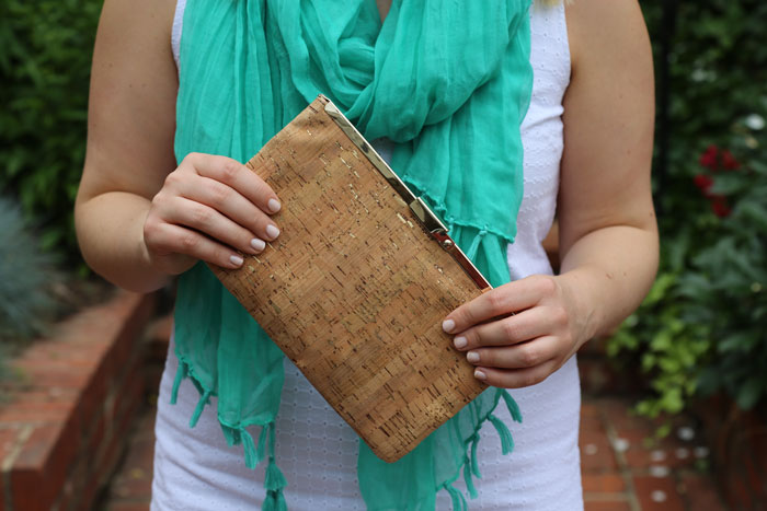 Cork Clutch | @dcgirlinpearls