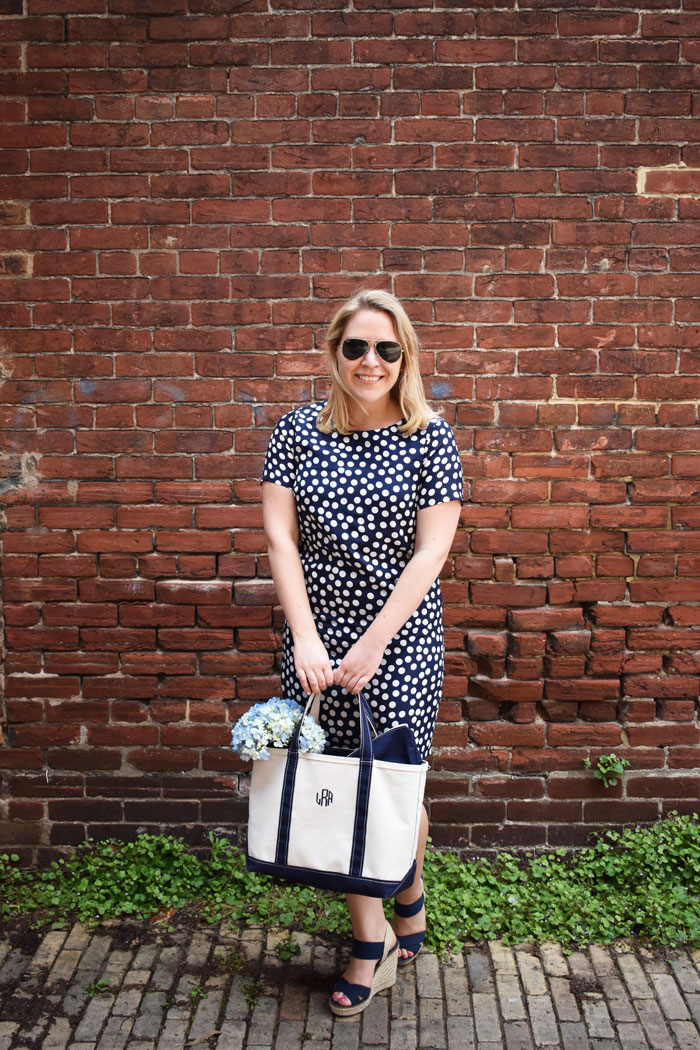 JCrew Polka Dot Dress | @dcgirlinpearls