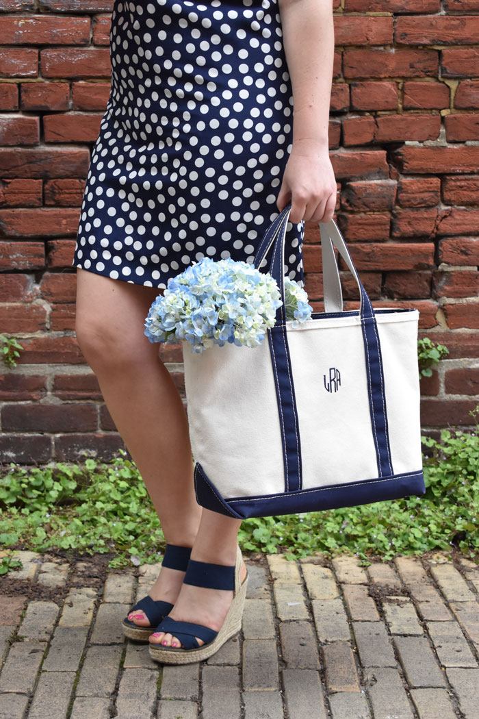 LL Bean Tote | @dcgirlinpearls
