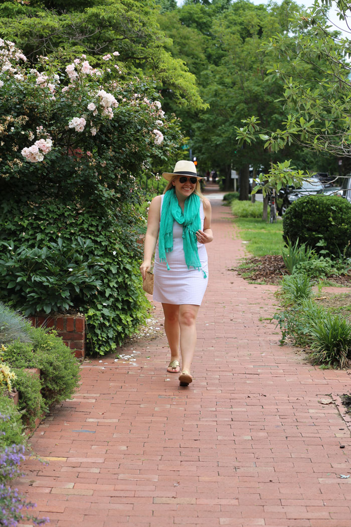 Summer White Dress | @dcgirlinpearls