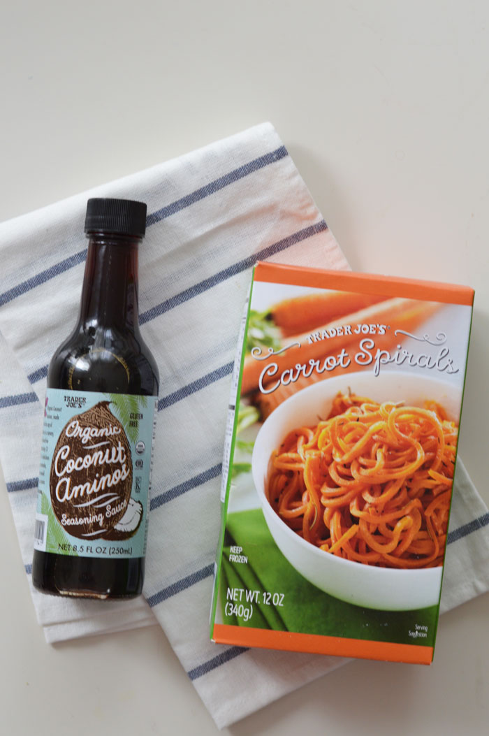 Trader Joe's Carrot Spirals and Coconut Aminos | @dcgirlinpearls